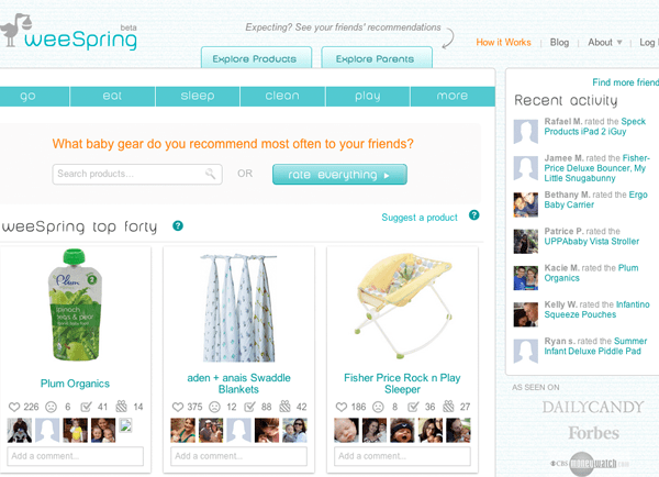 Find Baby Products Easily on weeSpring Social Shopping Site