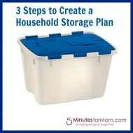 Tackle it Tuesday- Tackling a Household Storage Plan