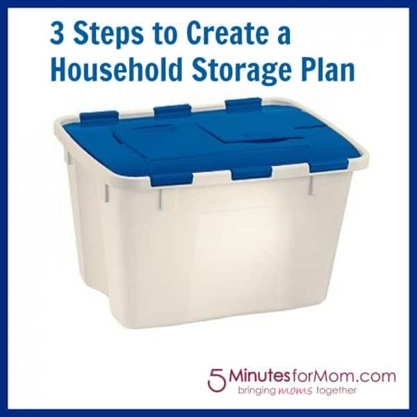 Tackling a Household Storage Plan