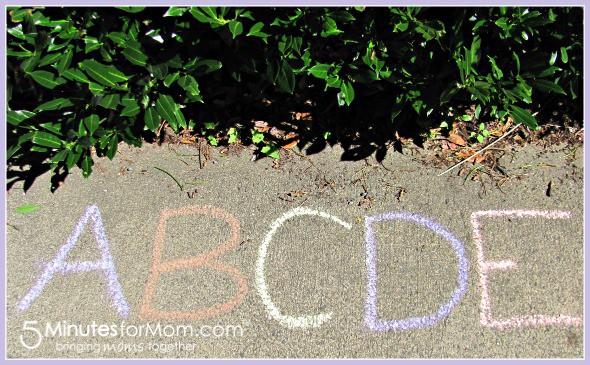 Sidewalk Chalk Alphabet