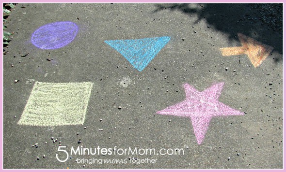 Colours and shapes with chalk