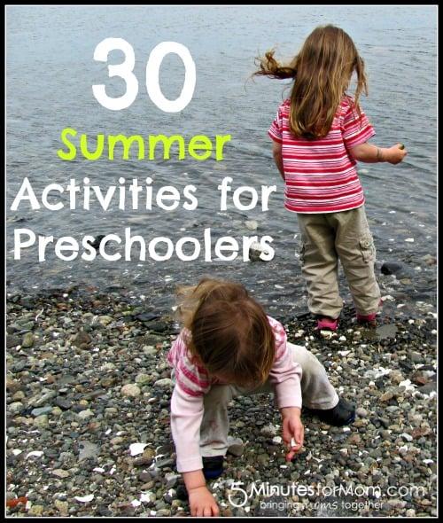 30 Summer Activities for Preschoolers