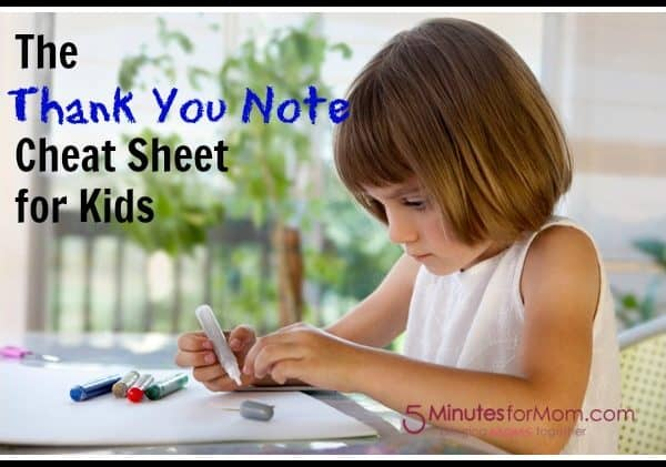 Teaching Kids To Write Thank You Notes