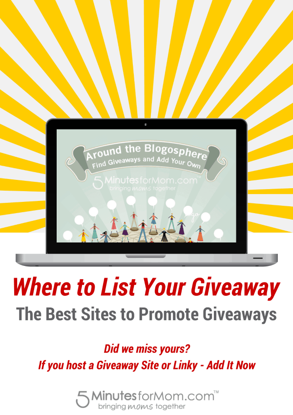 Sites to list giveaways to promote your giveaway