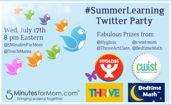 Summer Learning Twitter Party #SummerLearning