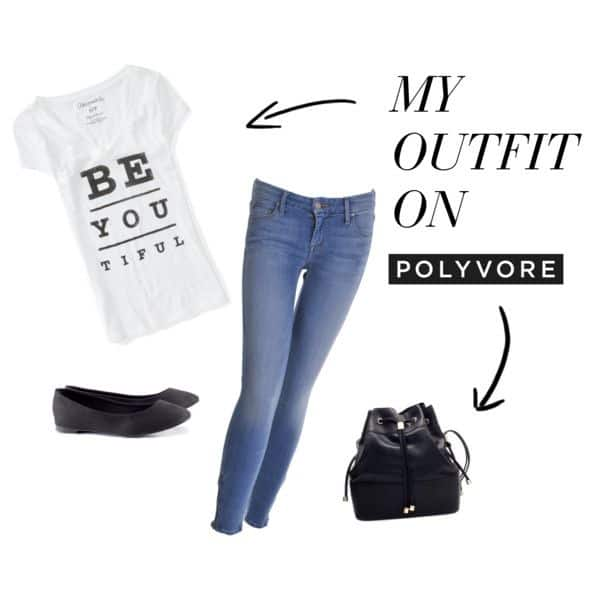 Jeans and Tee shirt Look
