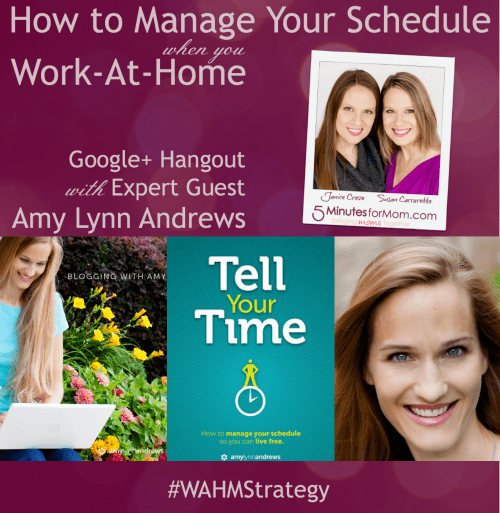 How to Manage Your Schedule when you Work-at-Home #WAHMStrategy