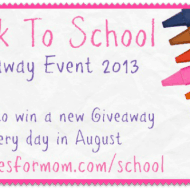 Back to School Giveaway Event 2013 #BackToSchool