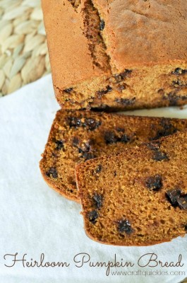 Heirloom Pumpkin Chocolate Chip Bread from Craft Quickies