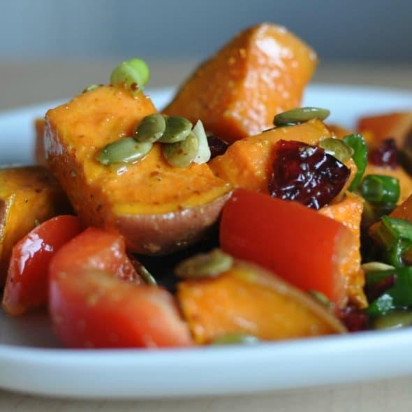 Roasted Sweet Potato Cranberry Salad