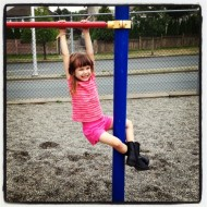 Wordless Wednesday – Sophia Hanging Around at the Playground
