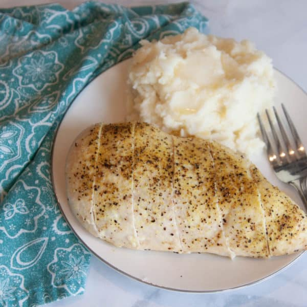 Easy Lemon Pepper Chicken with Loaded Mashed Potatoes