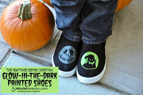 Nightmare Before Christmas Glow-in-the-Dark Shoes Tutorial and Template