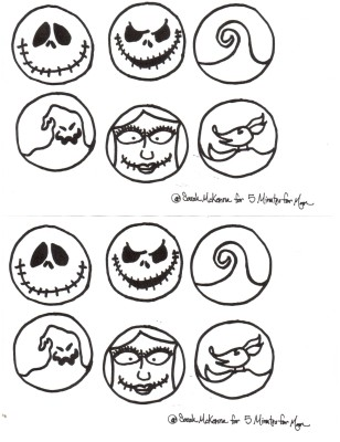 *Nightmare Before Christmas Shoe Templates
