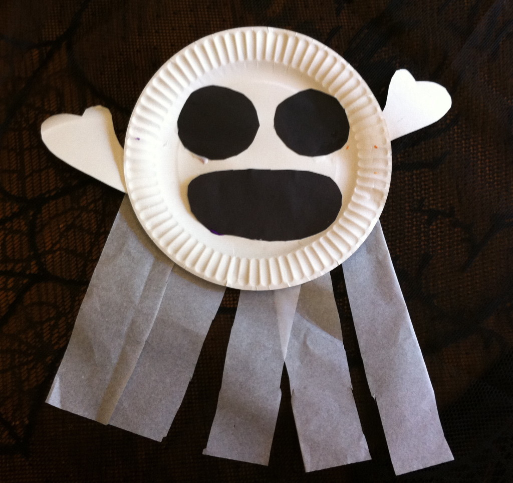 Paper Plate Ghost 2
