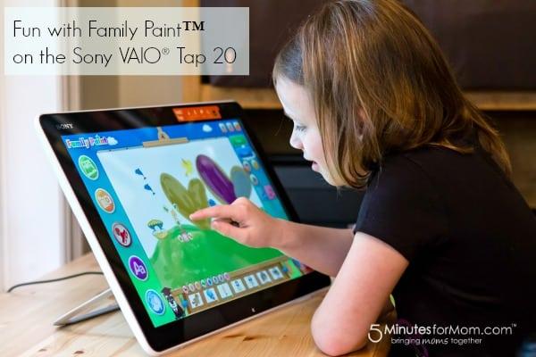 Sony VAIO Family Paint software