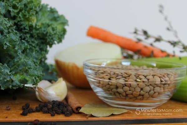 lentils kale carrots