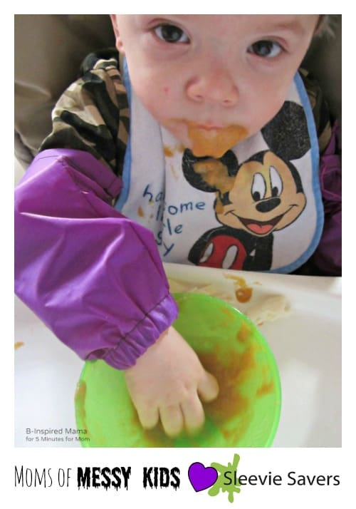 Moms of Messy Kids Love Sleevie Savers - B-Inspired Mama at 5 Minutes for Mom