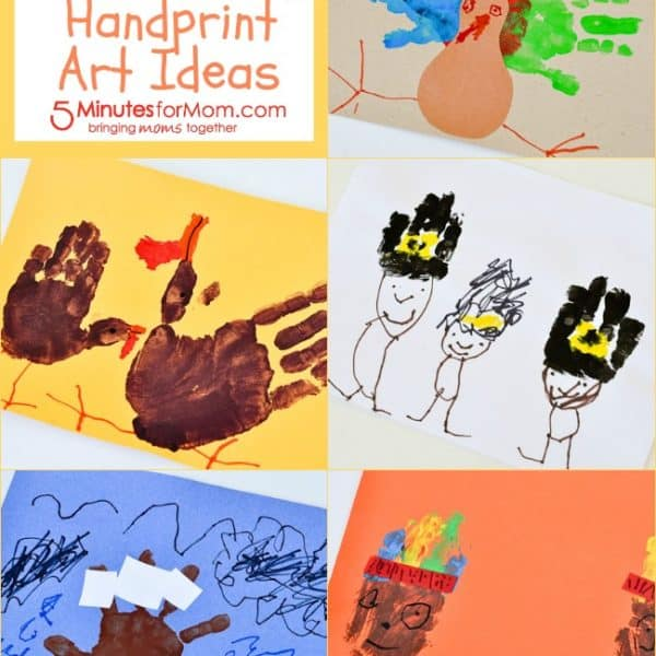 5 Simple and Silly Thanksgiving Handprint Art Ideas