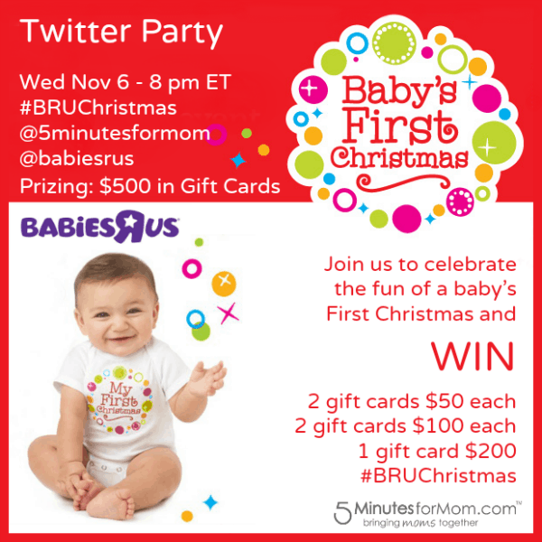 Let's Talk About Baby's First Christmas – Join us for our next Twitter Party #BRUChristmas