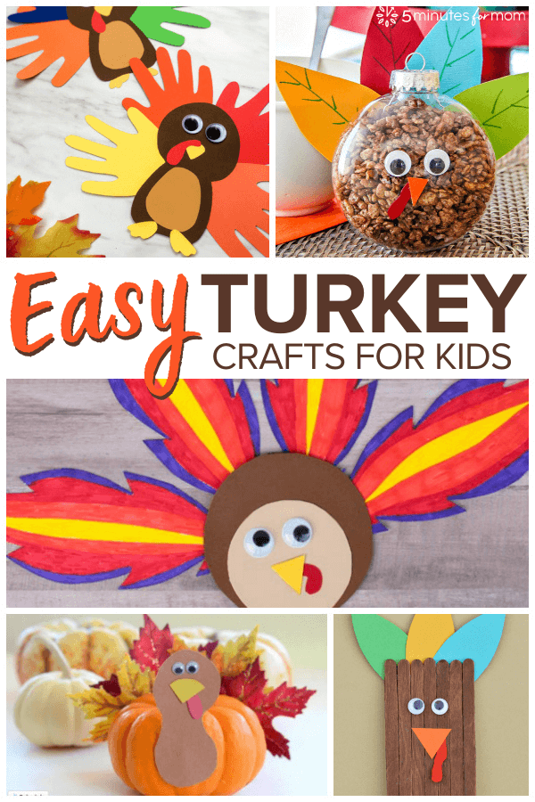 Easy Turkey Crafts for Kids