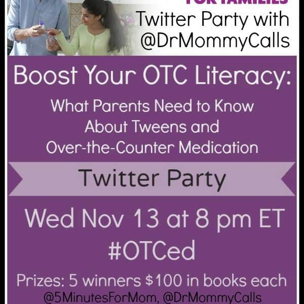 REMINDER – Join our Twitter Party Tonight to Learn about OTC Literacy