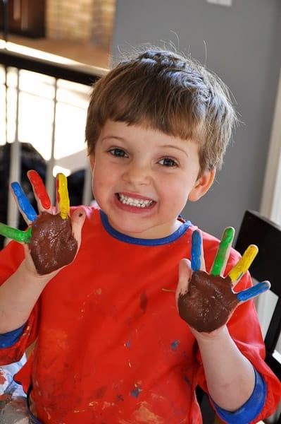 Thanksgiving Handprint Art - My Boy