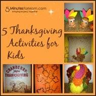 5 Thanksgiving Activities for Children