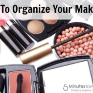 Tackle it Tuesday – How To Organize Your Make-Up Using Everyday Items