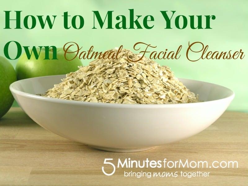 Oatmeal facial cleanser