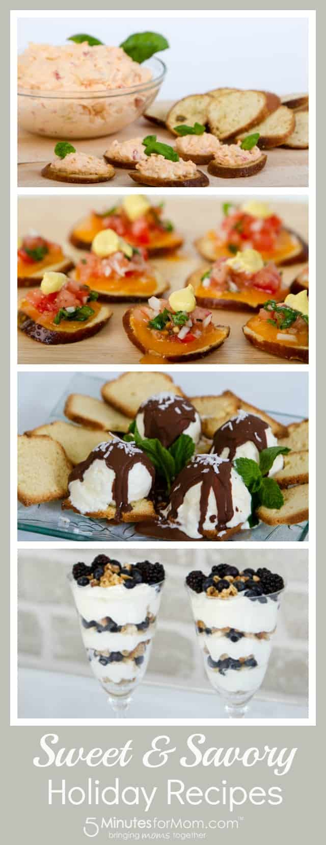 Sweet and savory holiday recipes
