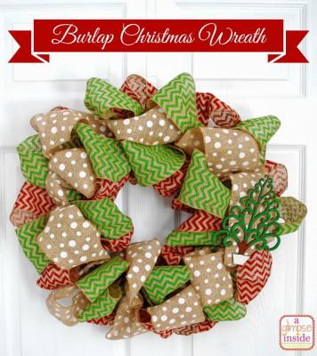 5burlap christmas wreath