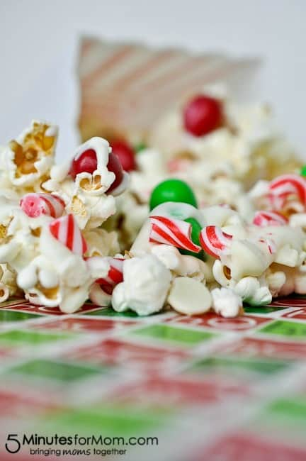 Christmas Popcorn Recipes.Christmas Crunch Popcorn 5 Minutes For Mom
