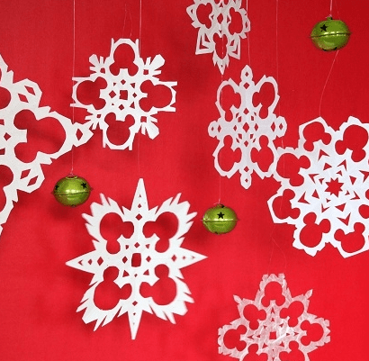 Mickey Mouse Paper Snowflakes