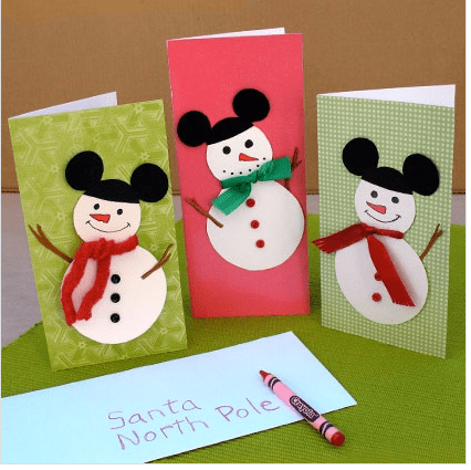 Mickey Snowmen Cards - Spoonful