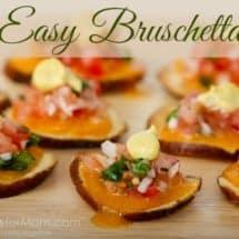 easy bruschetta