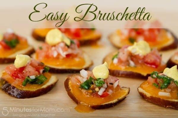 Easy Bruschetta Appetizer Recipe