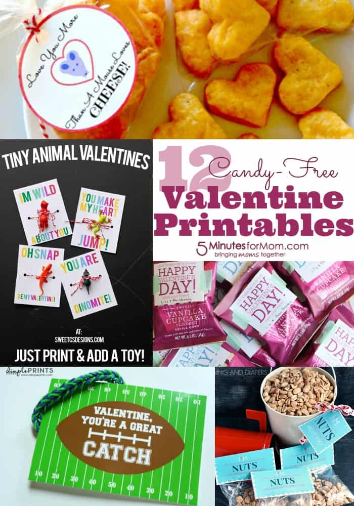 12 Candy Free Valentine Printables