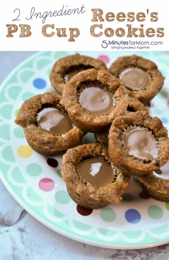2 Ingredient Reese's PB Cup Cookies
