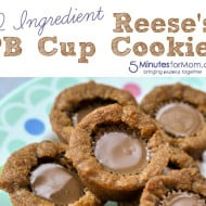 2 Ingredient Reese's PB Cup Cookies