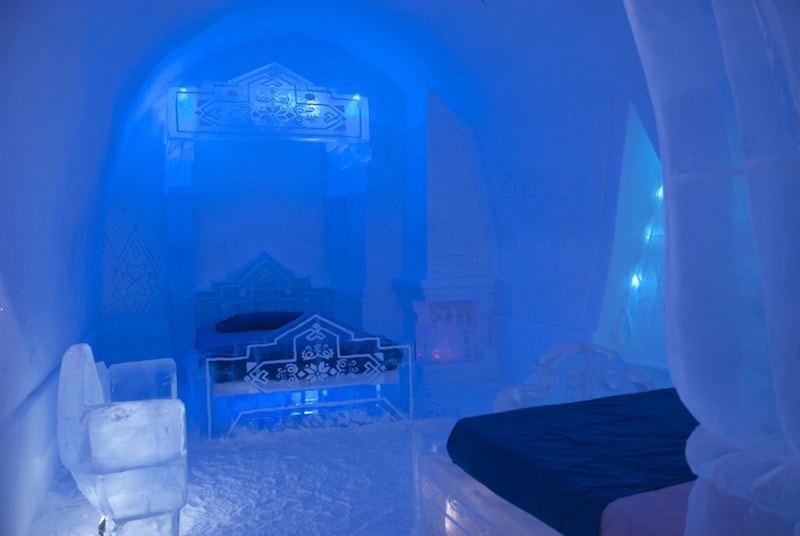 Frozen Room in the Ice Hotel