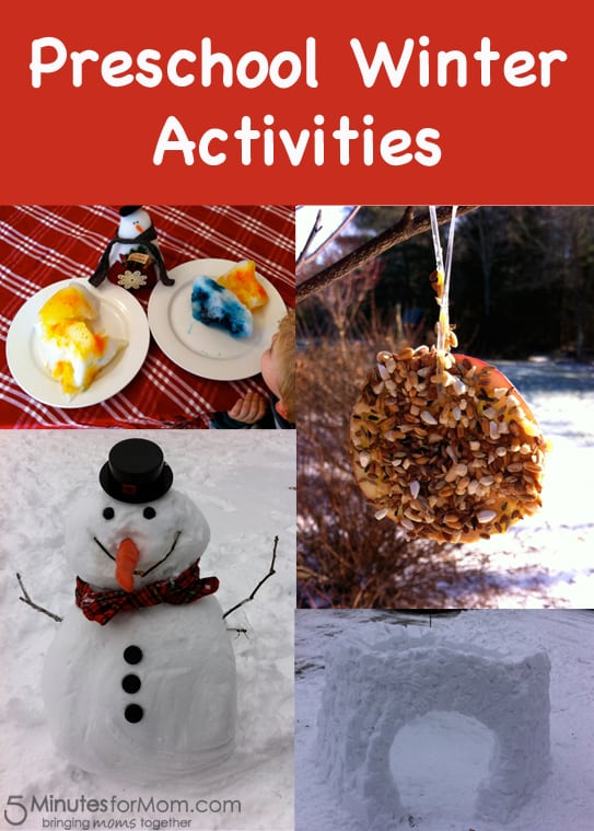 preschool winter name activities