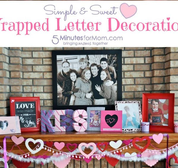 Simple & Sweet Wrapped Letter Decoration