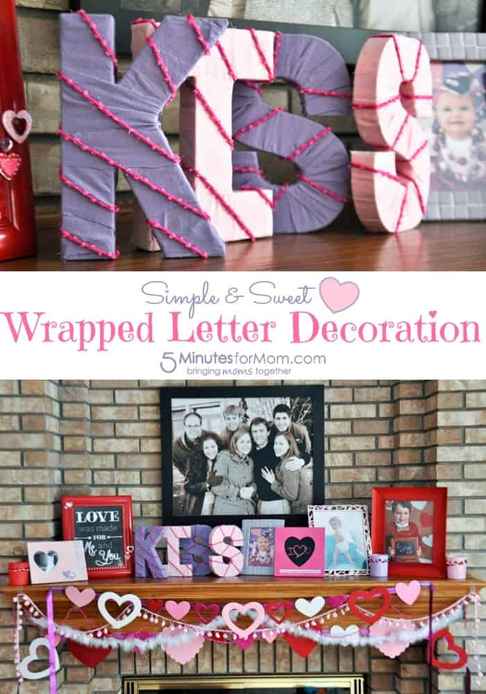 Simple & Sweet Wrapped Letter Valentine's Decoration