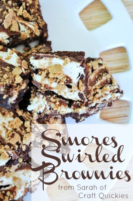 S'mores Swirled Brownies from Sarah of Craft Quickies