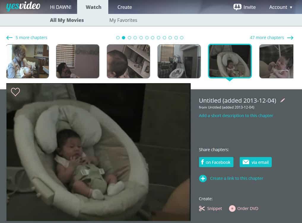 YesVideo Online Dashboard