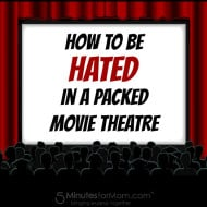 How To Be Hated in a Packed Movie Theatre #COUGHequences