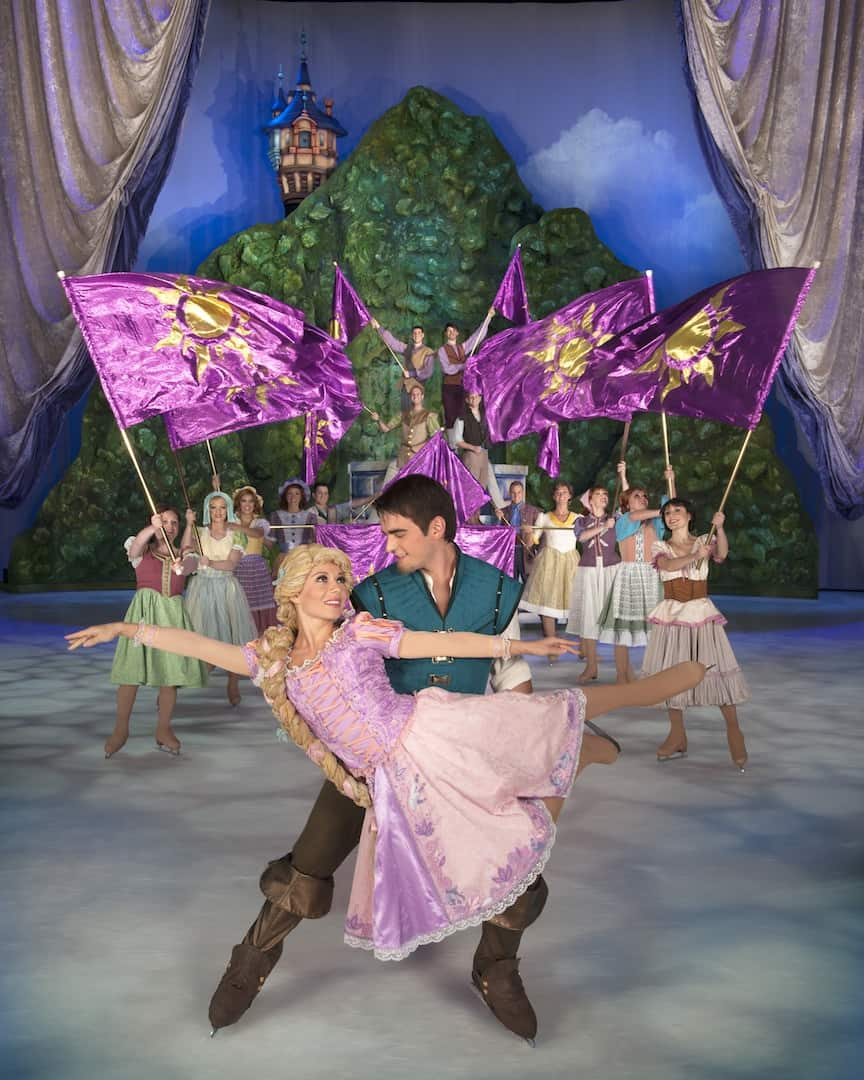 Disney On Ice Rockin Ever After Rapuznel and Flynn