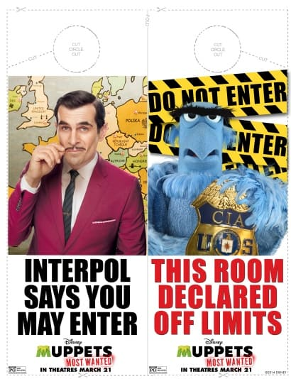 Muppets Most Wanted Door Hanger