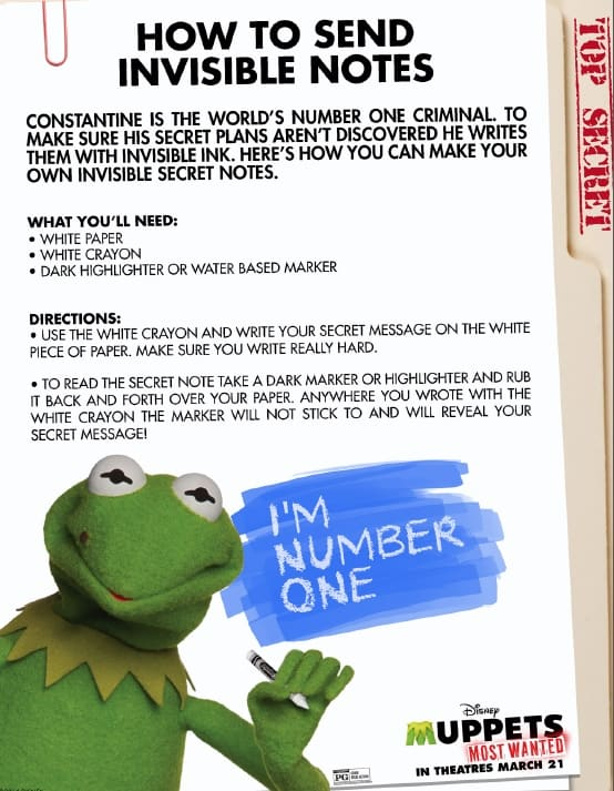 Muppets Most Wanted - How to Send Invisible Notes